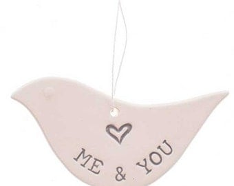 Me & You ceramic dove