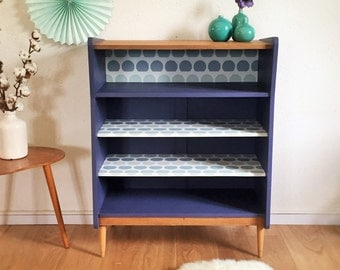 SALES  - Storage, bookcase, dresser, mid century modern, 50s, purple gray, model Adéalide