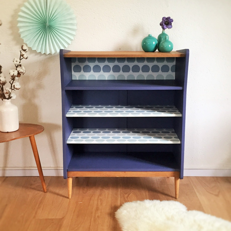soldes rangement biblioth que buffet vintage ann es 50. Black Bedroom Furniture Sets. Home Design Ideas