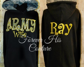 Army wife Army Girlfriend Army mom Army Sister Army Strong Army Gf Military pullover