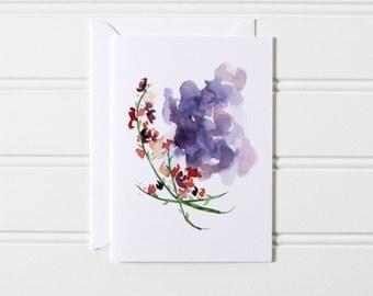 SALE Whimsical Flower Card