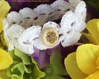 White crochet bracelet, Crochet Bracelet, Crochet Jewelry, Beach Jewelry, Summer Jewelry, Summer Bracelet, Bracelet, Woven Bracelet