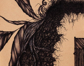 Illustration Art Surreal Gothic Abstract Pen & Ink Drawing Print Giclee Print