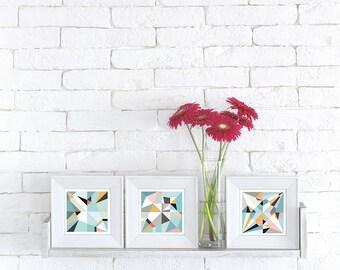 Origami Unfolded postcards 'Autumn' set of 3