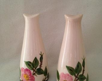 Franciscan Desert Rose Tall Salt And Pepper Shakers USA Pristine