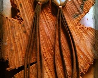 Native Earrings, amethyst