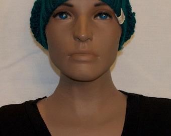 Blue Knit Winter Hat