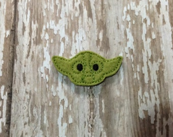 Set of 4 Star Wars Yoda Face Feltie Felt Embellishment Bow! Birthday Party Oversize Large Oversized