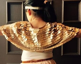 Sequin shrug girls Bridal Cover Up Girls Sequins bolero jacket Capelet Cape Shrug Wrap Flower Girl in Big Round Sequins mesh Swarovski Butto