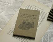 50% OFF SALE ~ revealed | typewriter ~ haiku notebook, journal, pocket jotter, sketchbook, diary, cahier, art, ink stamp, illustration