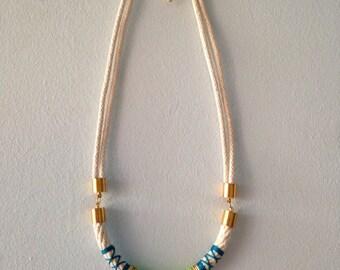 Neon Hieroglyph Rope Necklace