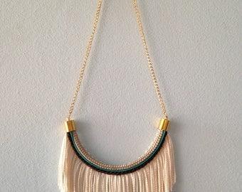 Natural Fringe Rope Necklace