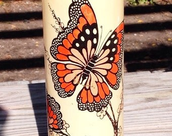 Monarch Butterfly Candle Holder