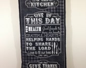 Kitchen Rules House Rules Sign Quilted Wall Hanging Tapestry