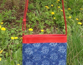 Dilians HAND-PRINTED leather Crossbody Bag