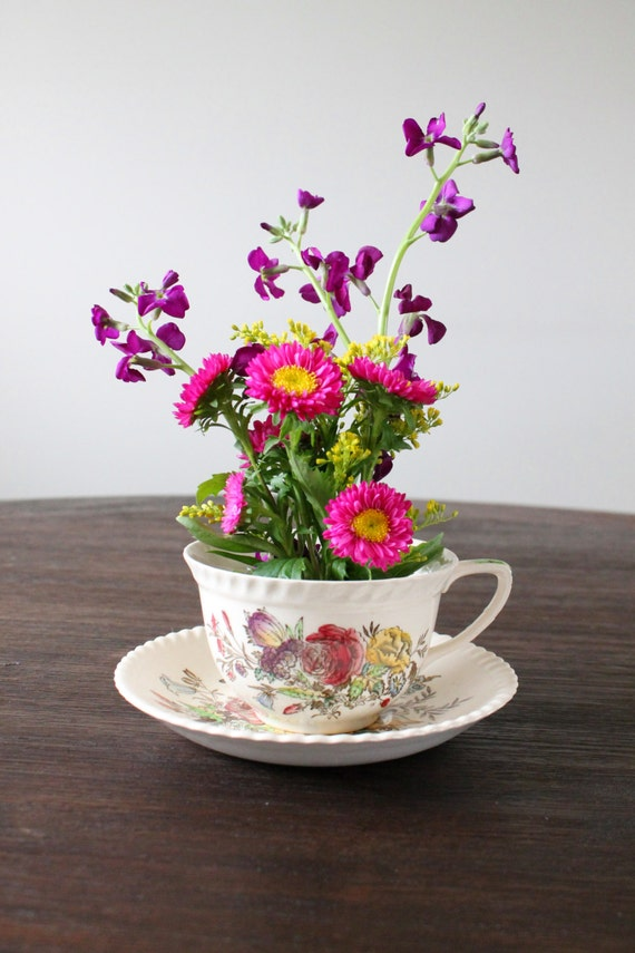 Items similar to tea cup centerpiece quot party