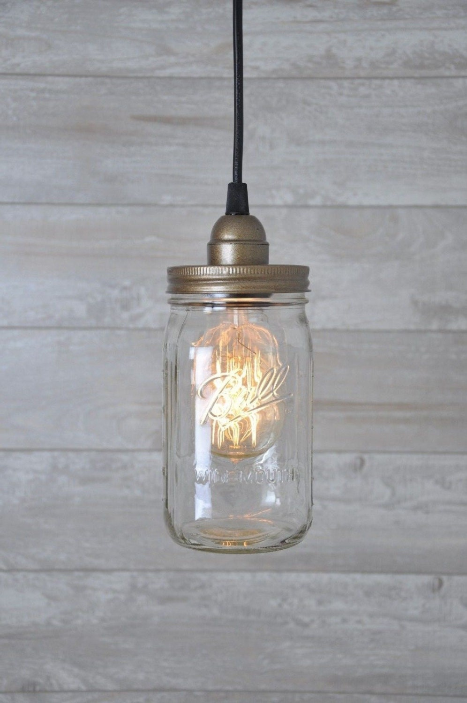 Mason Jar Pendant Light Fixture Plug In Mason Jar Light