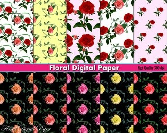 Watercolor Digital Paper Water color Wallpaper ombre DIY by DIGIFT