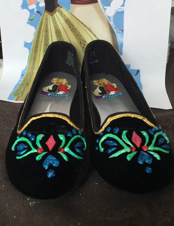 Anna's Coronation Shoes Hand Decorated With Swavoski