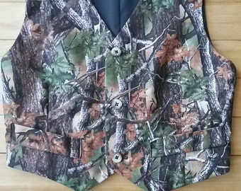 Boys 6x Camoflage Lined Vest