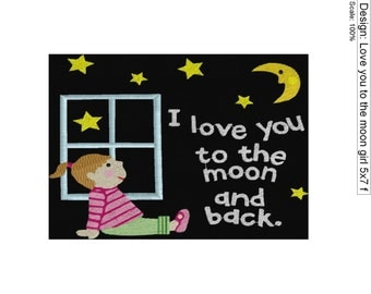 Love you to the moon Girl 5x7