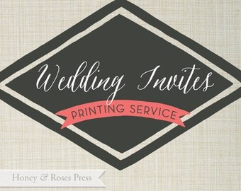 Honey and Roses Press  . Printing Services for Wedding Invites  .  Wedding Suite
