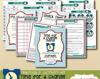 Printable Charades - Time For A Change Theme