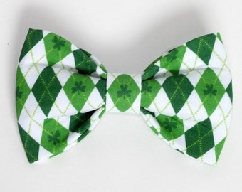 St Patricks Day Dog Bow Tie, Cat Bow Tie, pet bow tie, collar bow tie, wedding bow tie