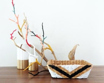 Hand Painted Basket - Small