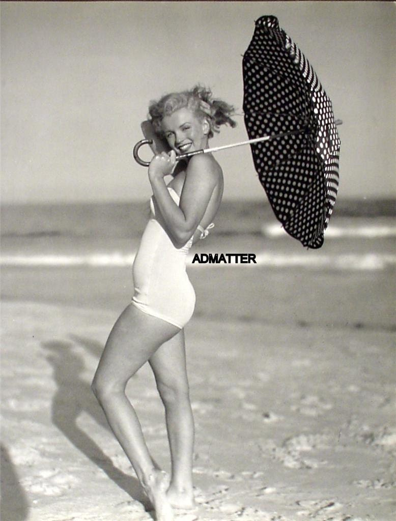Marilyn Monroe Rare Vintage 9X12 Pin-up Poster Norma Jean In