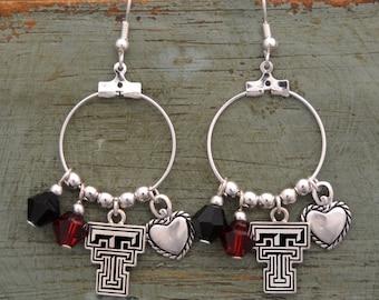 Texas Tech Red Raiders Memory Earrings