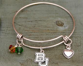 Baylor Bears Memory Wire Bracelet