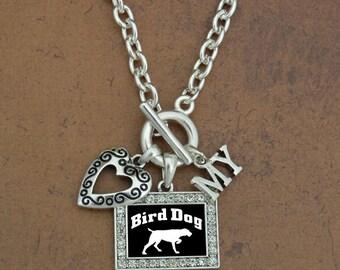 Heart My Bird Dog Necklace