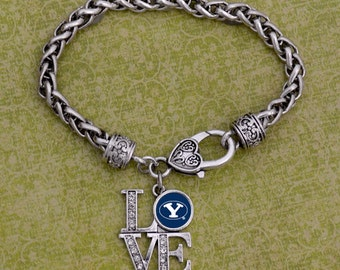 "BYU Cougars ""LOVE"" Clasp Bracelet"
