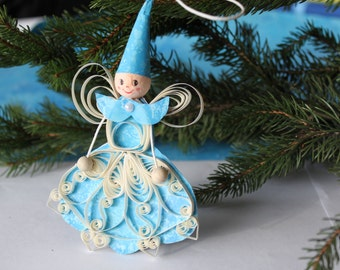GIRDWOOD winter fairy - Paper quilled ornament - Christmas decoration - Handmade gift