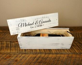 Wedding Wine Box - Personalized Wine Box