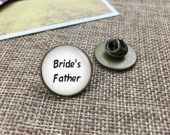 Bride's Father Tie Tacks, Personalized Tie Tacks, Custom Tie Tacks, Father Tie Tack, Custom Wedding Cufflinks, Groom Cufflink, Tie Bars