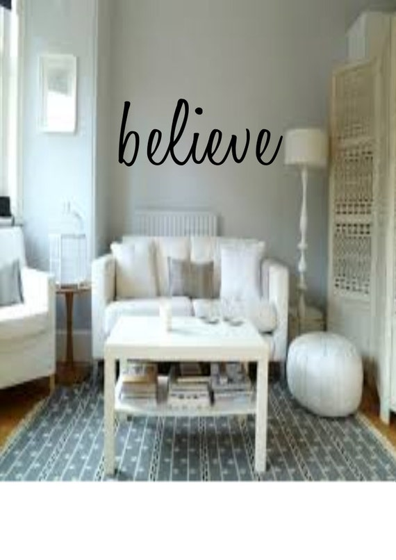 believe home decor gift idea living room by emmaembellishments