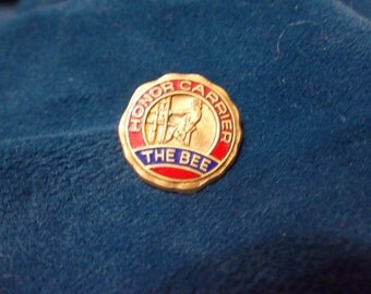 Honor Carrier The Bee  Employee Service Pin - Newspaper
