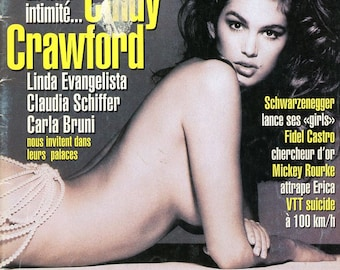 Magazine  -  NewLook Magazine  1995  Young Cindy Crawford Cover  Models Homes: Evangelista, Schiffer, Bruni    Rolling Stones  more  mature