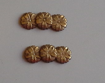 Sansakura (Three Cherry Blossoms) Menuki in Bronze