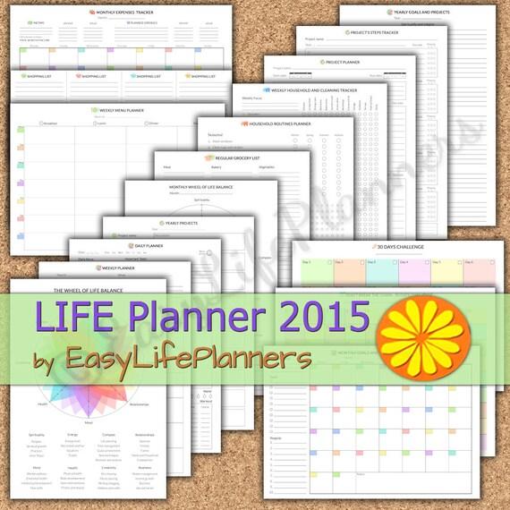 weekly planner bundle 2015 planner printable planner calendar