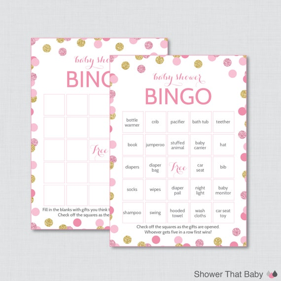 Baby Shower Bingo Cards Printable - Pre-filled AND Blank Bingo Cards ...