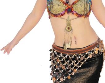 Coin Belt, Belly Dance Belt, Tribal Fusion Belts, Belly Dancing Belts, Bellydance Costume, Gypsy Belt, Festival Belt, Dancing Belt