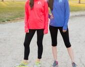 Monogrammed 1/2 Zip Athletic Dri-Fit Lightweight Pullover