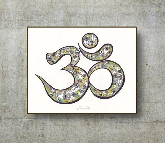 Om Aum Dessin Imprim 233 Toile Fine Art Print Om Yoga Affiche