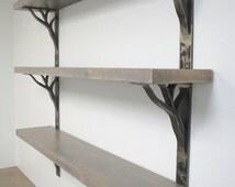 Iron Shelf Brackets 2 inch wide linear design