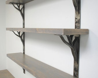 iron shelf brackets 2 inch wide linear design