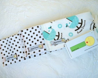 Baby Burp Cloths ~ Cradle Sweet Dreams ~ Oliver Burps ~ 2 sets of 3 ~