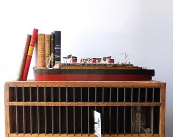 Vintage Wooden Ship Model